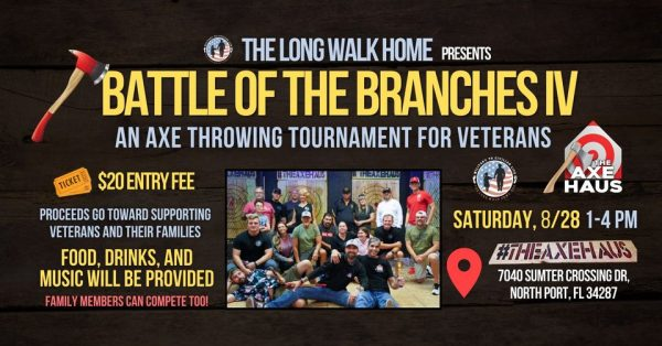 The Long Walk Home Presents Battle Of The Branches IV, An Axe Throwing Tournament For Veterans
